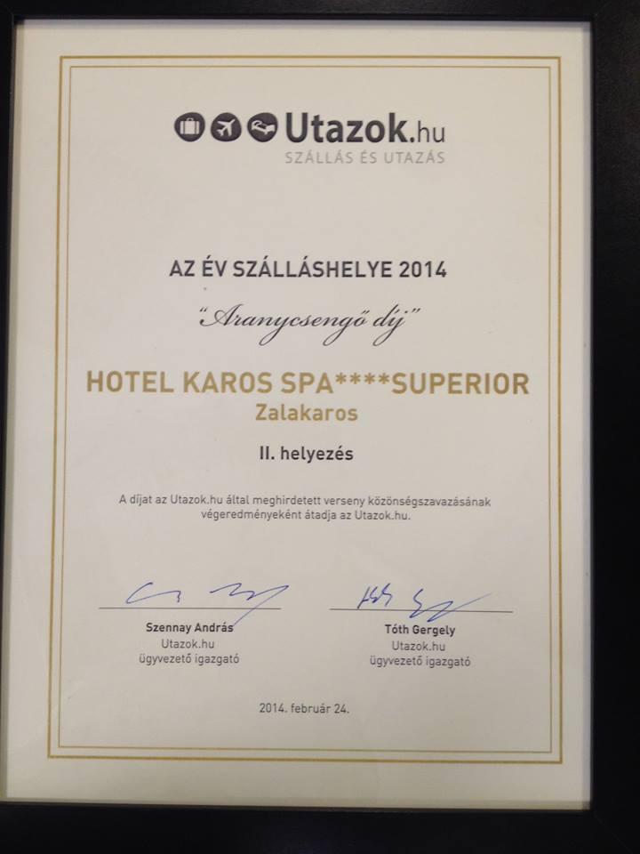 67490 10152331827269595 664513213 n Nívós elismerések a Hotel Karos Spa nak aktualis hirek