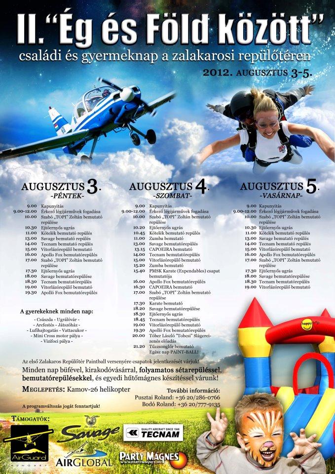 Családi nap a Zalakarosi Repülőtéren   vitorlázó repülés, ejtőernyős bemutató, tandemugrás, repülő modellezők bemutatója, műrepülés aktualis hirek