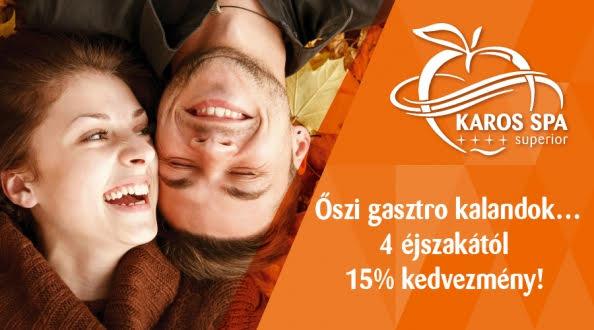 karosspa1 Hotel Karos Spa   Őszi gasztró kalandok, ajándék snack ebéd, 4=5 éj akció aktualis hirek